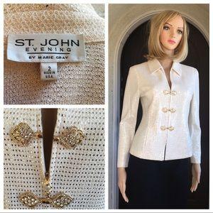 St. John evening embellished gold jacket size 2
